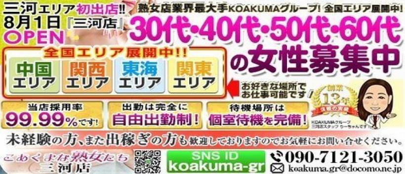 こあくまな熟女たち 三河店(KOAKUMAグループ)の求人